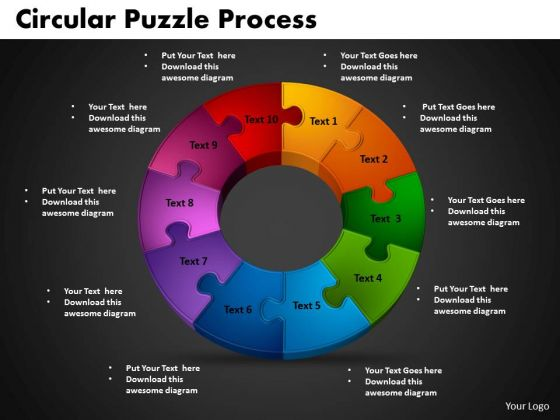 PowerPoint Templates Circular Puzzle Process Education Ppt Slides