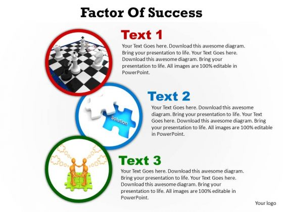 PowerPoint Templates Company Factors Of Success Ppt Template