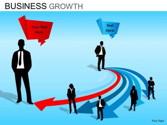 PowerPoint Templates Company Leadership Business Growth Ppt Presentation