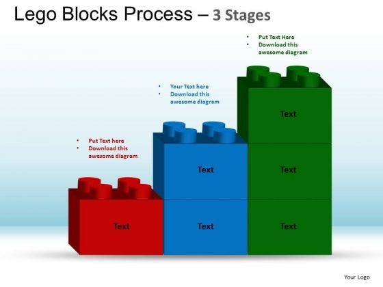 PowerPoint Templates Company Lego Blocks Ppt Slide