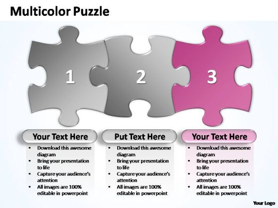 PowerPoint Templates Company Multicolor Puzzle Diagram Ppt Themes