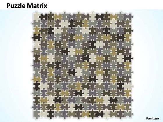 PowerPoint Templates Company Puzzle Matrix Ppt Process