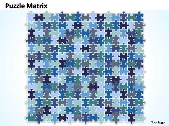 PowerPoint Templates Company Puzzle Matrix Ppt Slides