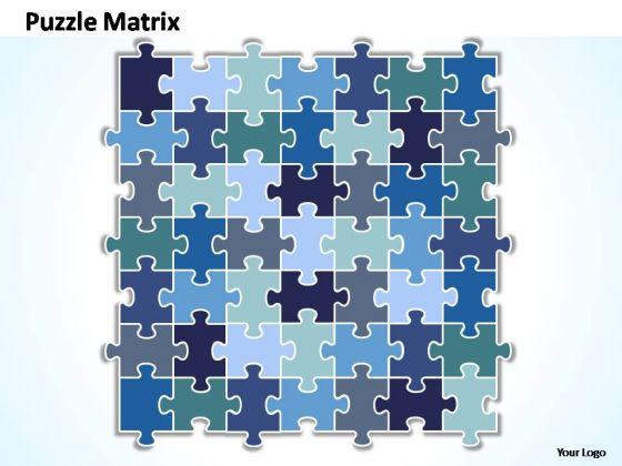 PowerPoint Templates Company Puzzle Matrix Ppt Themes