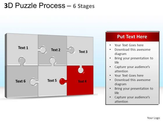 PowerPoint Templates Company Puzzle Process Ppt Theme
