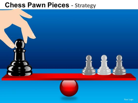 PowerPoint Templates Company Strategy Chess Pawn Ppt Designs