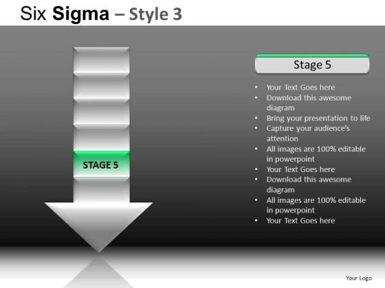 PowerPoint Templates Corporate Competition Six Sigma Ppt Slide