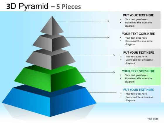 PowerPoint Templates Corporate Hierarchy Pyramid Ppt Slide Layout