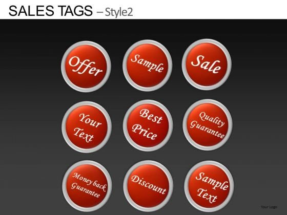 PowerPoint Templates Corporate Success Sales Tags Ppt Slide