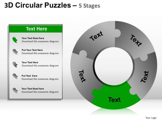 PowerPoint Templates Cycle Diagram Puzzle Ppt Slides