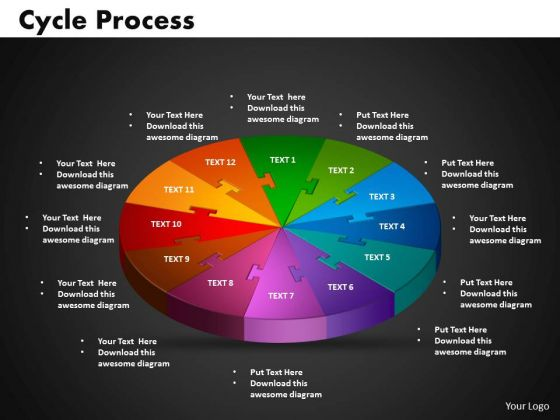 PowerPoint Templates Cycle Process Editable Ppt Presentation