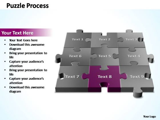 PowerPoint Templates Diagram 3d Puzzle Process Ppt Slide
