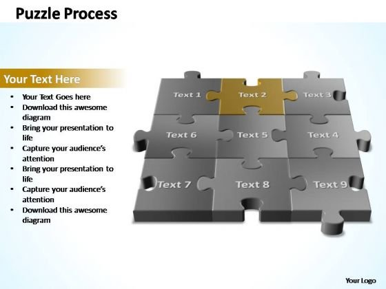 PowerPoint Templates Diagram 3d Puzzle Process Ppt Slides