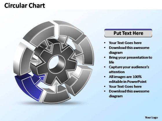 PowerPoint Templates Diagram Interconnected Circular Chart Ppt Slide