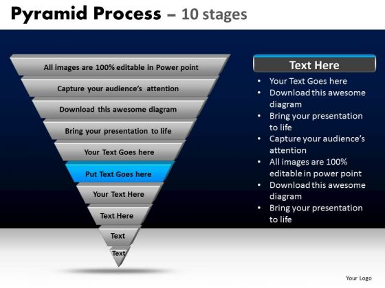 PowerPoint Templates Diagram Pyramid Process Ppt Design Slides