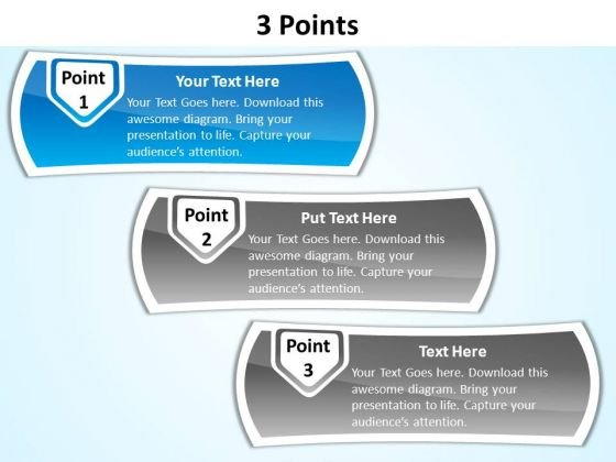 PowerPoint Templates Diagrams 3 Points Ppt Themes