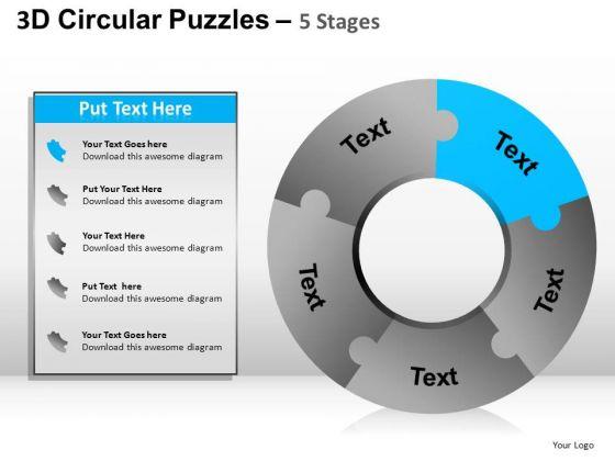 PowerPoint Templates Doughnut Diagram Puzzle Ppt Slide Designs