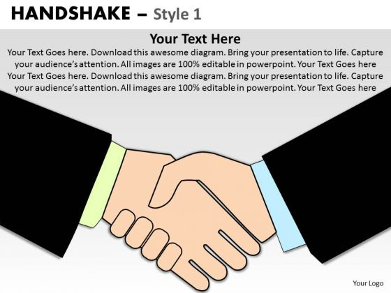 PowerPoint Templates Download Handshake Ppt Slide