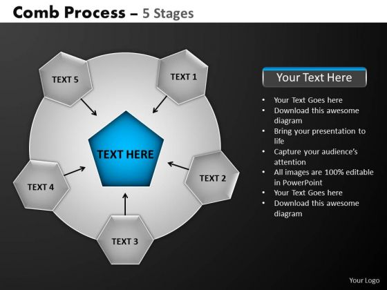 PowerPoint Templates Download Hub And Spokes Process Ppt Presentation