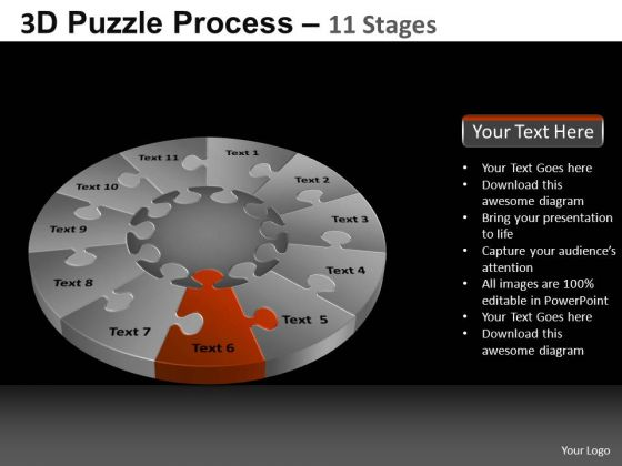 PowerPoint Templates Download Pie Chart Puzzle Process Ppt Themes