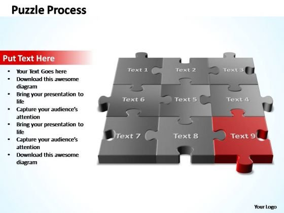 PowerPoint Templates Editable 3d Puzzle Process Ppt Slides