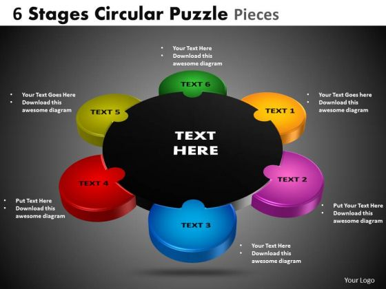 PowerPoint Templates Editable Circular Puzzle Ppt Process