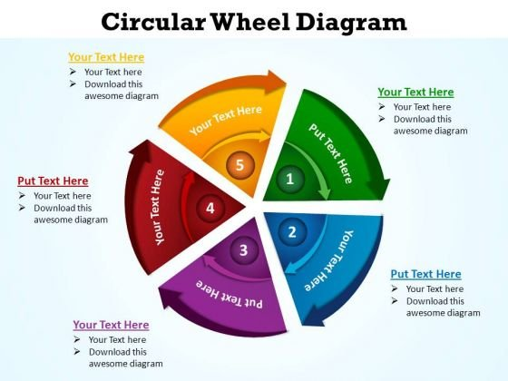 PowerPoint Templates Editable Circular Wheel Ppt Template