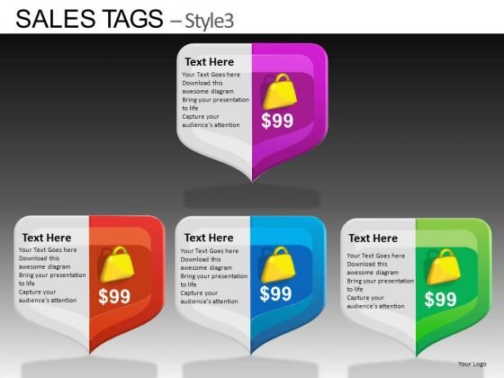 PowerPoint Templates Executive Designs Sales Tags Ppt Template