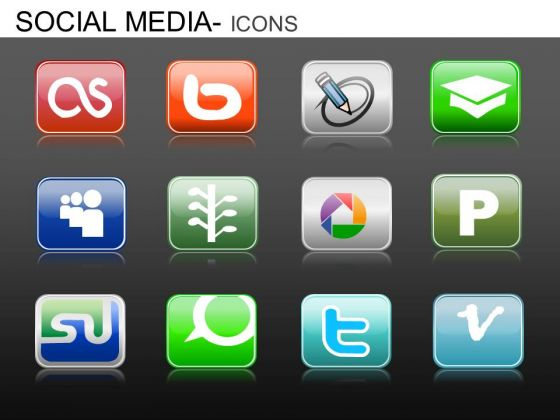 PowerPoint Templates Executive Education Social Media Icons Ppt Slide