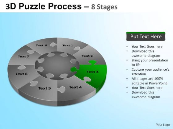 PowerPoint Templates Executive Growth Puzzle Segment Pie Chart Ppt Themes