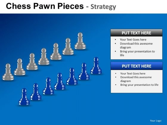 PowerPoint Templates Executive Strategy Chess Pawn Ppt Slides