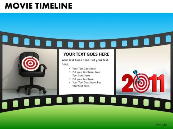 PowerPoint Templates Film Strip Movie Timeline Ppt Slides