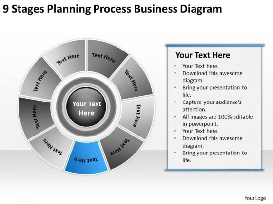 PowerPoint Templates Free Download Diagram Business Plan Sample - Business plan powerpoint template free