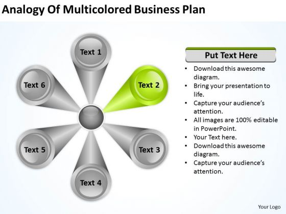 PowerPoint Templates Free Download Plan 6 Stages Business Proposal Slides