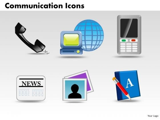 PowerPoint Templates Global Communication Icons Ppt Themes