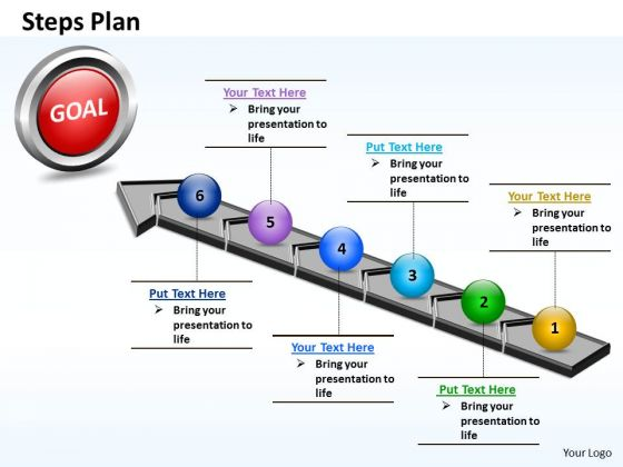 PowerPoint Templates Global Steps Plan 6 Stages Style 4 Ppt Themes