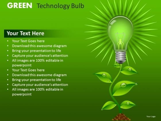 PowerPoint Templates Green Business Ideas Innovation Ppt Slides