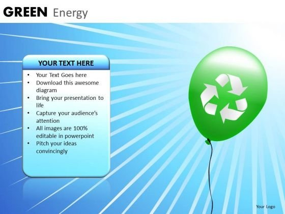 PowerPoint Templates Green Energy Sun Light Wind Ppt Slides