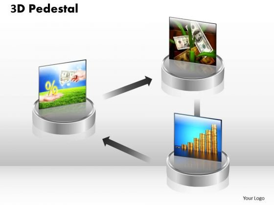 PowerPoint Templates Growth 3d Pedestal Ppt Slide