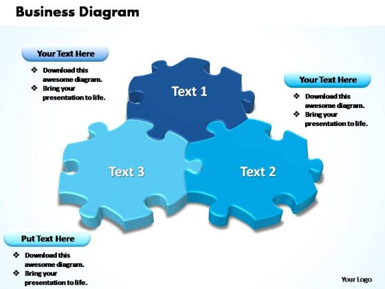 PowerPoint Templates Growth Interconnected Puzzle Pieces Business Ppt Themes