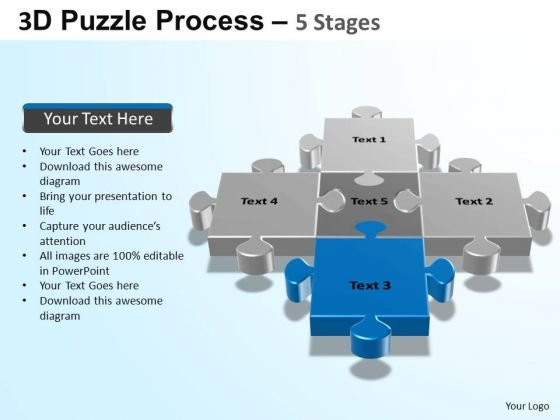 PowerPoint Templates Growth Puzzle Process Ppt Presentation