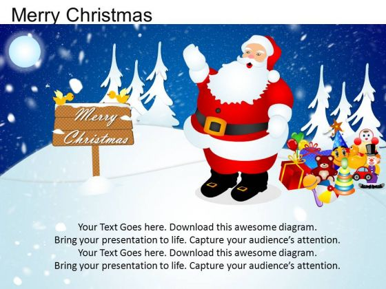 PowerPoint Templates Happy Merry Christmas Ppt Theme