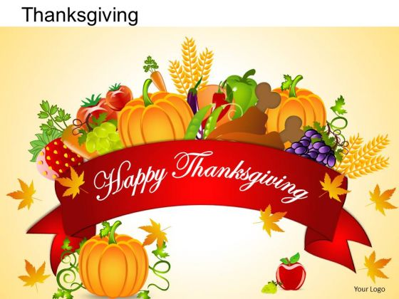 PowerPoint Templates Happy Thanksgiving Ppt Slides