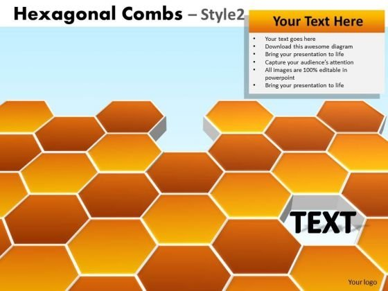 Hexagon Combs PowerPoint Templates