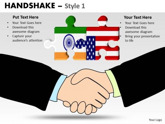 PowerPoint Templates India America Handshake Ppt Themes