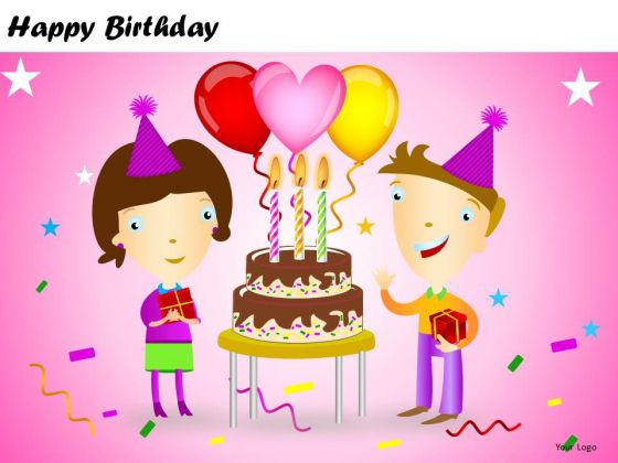 PowerPoint Templates Kids Cake Happy Birthday Ppt Designs