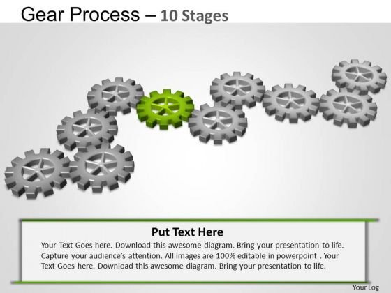 PowerPoint Templates Leadership Gears Process Ppt Slides
