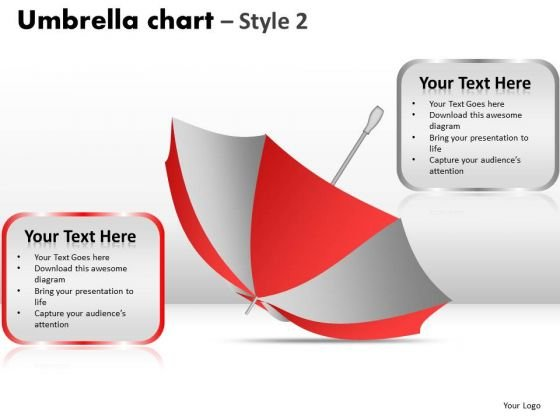PowerPoint Templates Leadership Umbrella Chart Ppt Slides