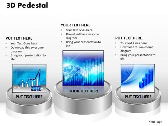 PowerPoint Templates Marketing 3d Pedestal Ppt Designs