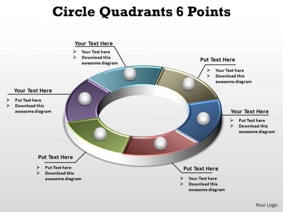 PowerPoint Templates Marketing Circle Quadrants Ppt Design Slides
